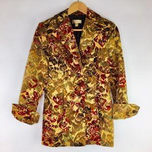 Nordstrom Studio 121 Floral Tapestry Blazer Jacket